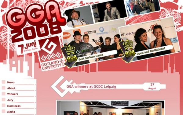 Gotland GameAwards 2008 webpage